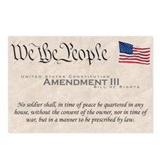 Amendment III Postcards (Package of 8)