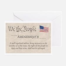 Amendment II Greeting Cards (Pk of 20)