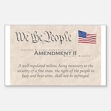 Amendment II Rectangle Decal