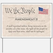 Amendment II Yard Sign