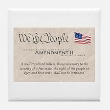 Amendment II Tile Coaster