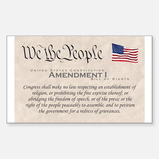 Amendment I Rectangle Decal