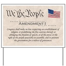 Amendment I Yard Sign