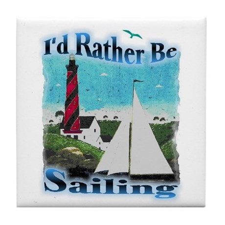 Be Sailing Tile Coaster
