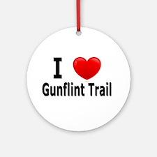 I Love the Gunflint Trail Ornament (Round)