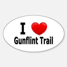 I Love the Gunflint Trail Oval Decal