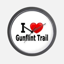 I Love the Gunflint Trail Wall Clock