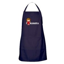 I Love Albania Apron (dark)