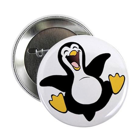 """Skuzzo Happy Penguin 2.25"""" Button (100 pack)"""