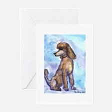 Brown Poodle Gifts Greeting Cards (Pk of 10)