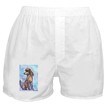 Brown Poodle Gifts Boxer Shorts