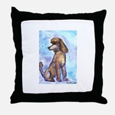 Brown Poodle Gifts Throw Pillow