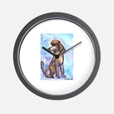 Brown Poodle Gifts Wall Clock