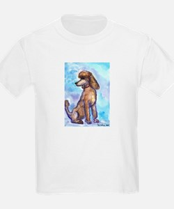 Brown Poodle Gifts Kids T-Shirt