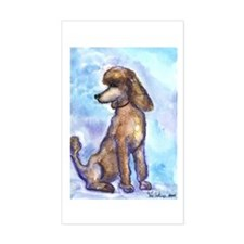 Brown Poodle Gifts Rectangle Decal