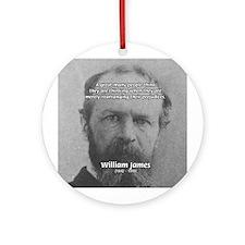 Funny Quotes: William James Ornament (Round)
