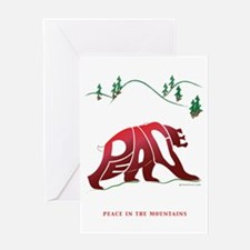 Peace (Bear) in The Mountains Greeting Cards