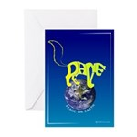 Peace (Cat) on Earth Greeting Cards (Pk of 10)