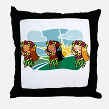 Sweet Hula Babes Throw Pillow