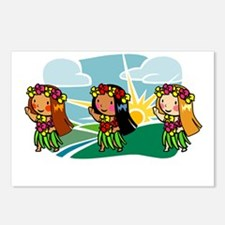Sweet Hula Babes Postcards (Package of 8)