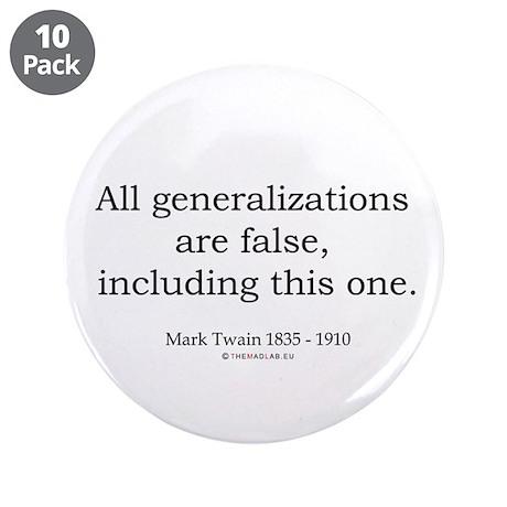 """Mark Twain 1 3.5"""" Button (10 pack)"""