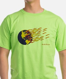 Global Warming Man T-Shirt