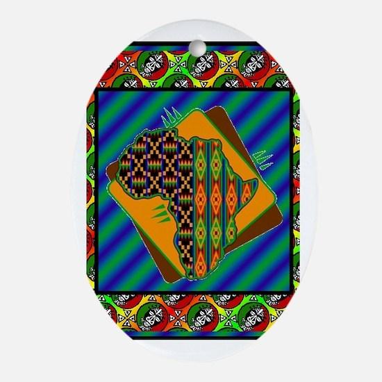 Unique Afrocentric Oval Ornament