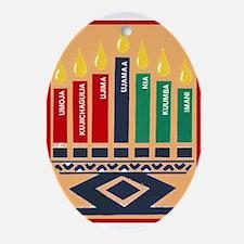 Unique Kwanzaa Oval Ornament