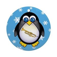 Fun Christmas Penguin Trumpet Ornament