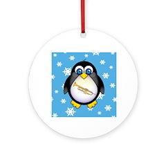 Fun Christmas Penguin Trumpet Ornament
