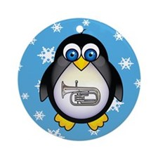 Christmas Music Penguin Tuba Ornament