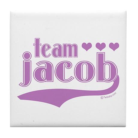 Team Jacob Purple Hearts Tile Coaster