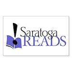 Saratoga Reads! Rectangle Sticker