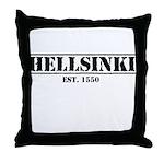 Throw Pillow Hellsinki Est 1550