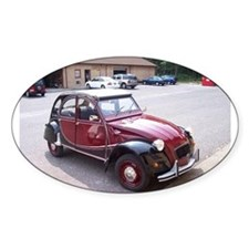 2CV Red Oval Decal