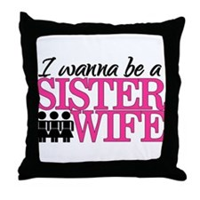 Sister Wife Throw Pillow