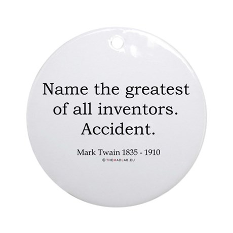 Mark Twain 3 Ornament (Round)