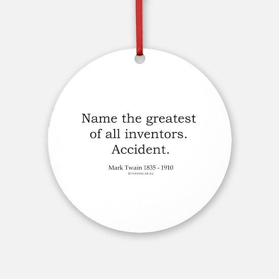 Mark Twain 3 Ornament (Round)