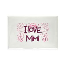 I Love Mimi Rectangle Magnet