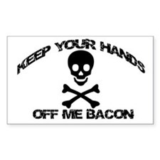 BACON PIRATE Rectangle Decal