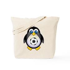 Sports Penguin Soccer Tote Bag