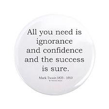 """Mark Twain 4 3.5"""" Button (100 pack)"""
