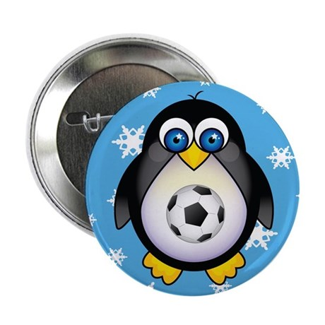 "Sports Penguin Soccer 2.25"" Button"