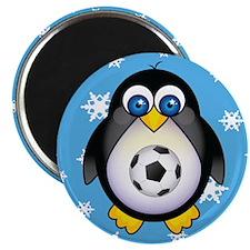 Sports Penguin Soccer Magnet