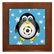 Sports Penguin Soccer Framed Tile