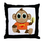 Love Monkey Throw Pillow