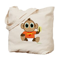 Love Monkey Tote Bag