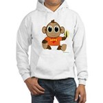Love Monkey Hooded Sweatshirt