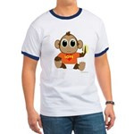 Love Monkey Ringer T (colors)