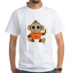 Love Monkey White T-Shirt